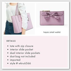 Kate Spade Schuyler Tote and Hayes Small Wallet